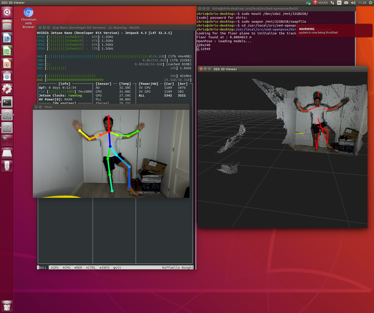 ZED-2 and OpenPose integration